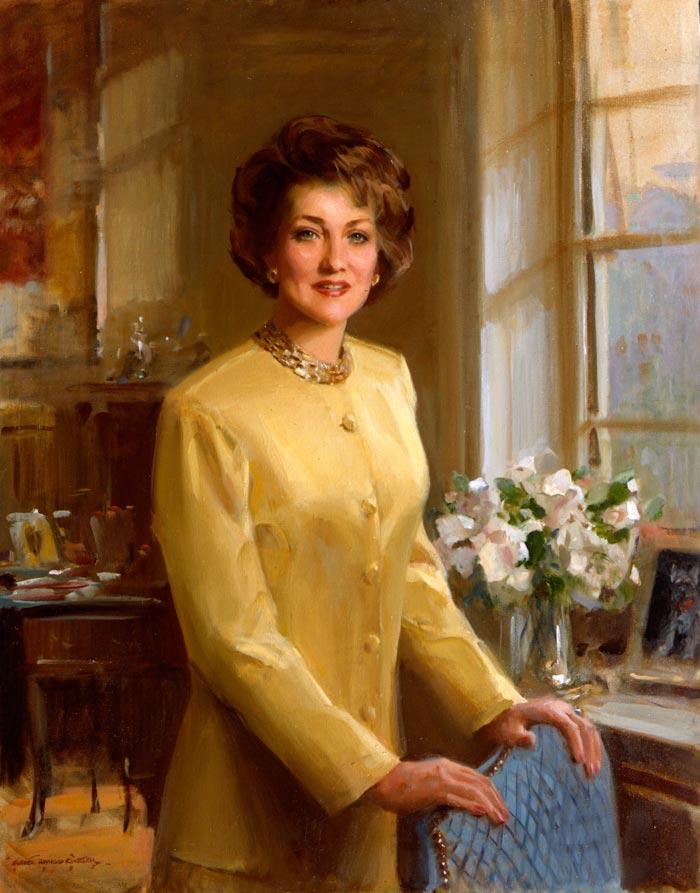 portrait-art-elizabeth-dole-everett-raymond-kinstler