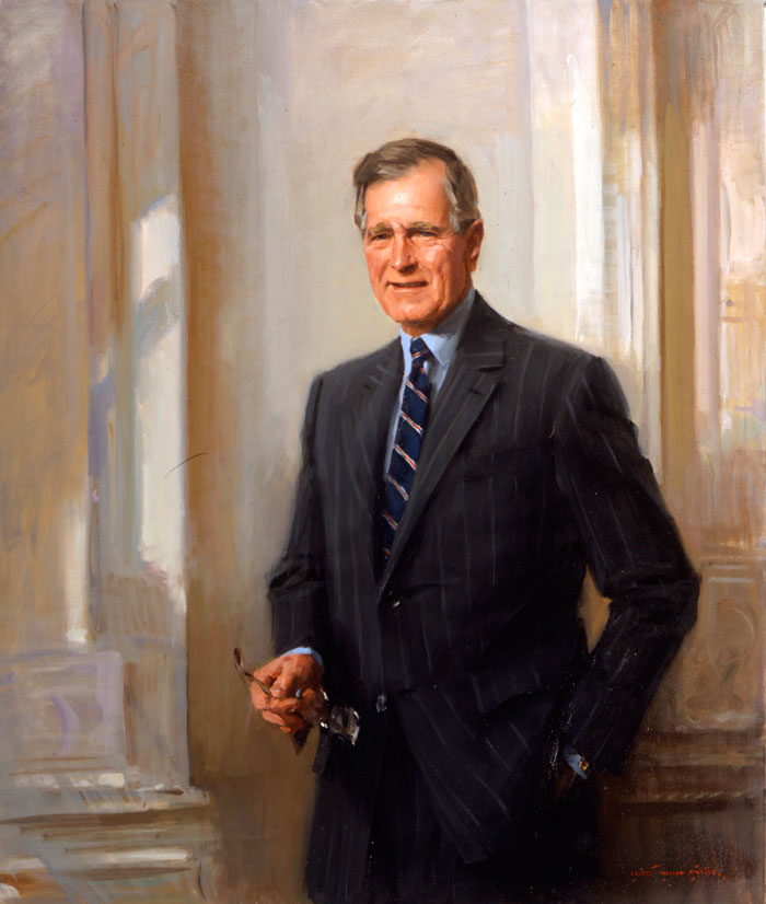 portrait-art-president-george-h-w-bush-yale-club-everett-raymond-kinstler