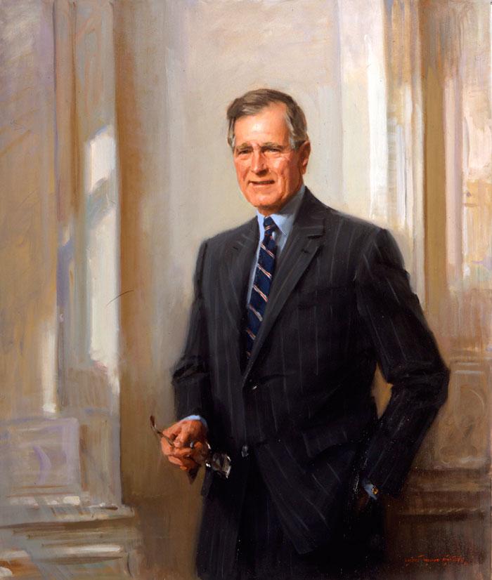 portrait-art-president-george-h-w-bush-yale-club-everett-raymond-kinstler