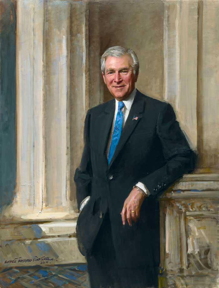 portraits-art-president-George W Bush-everett-raymond-kinstler