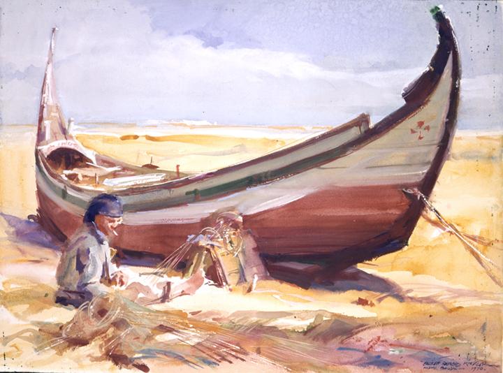 art-landscape-boat-everett-raymond-kinstler