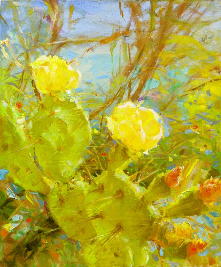 art-landscape-flowers-flowering-cactus-everett-raymond-kinstler